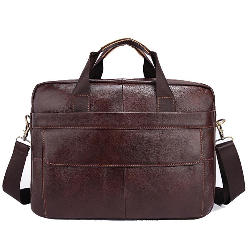 1af11d31f6 2018 Genuine Leather Mens Bags Crossbody Bags Casual Totes Men Briefcases  14inch Laptop Messenger Bag Men S Shoulder Bag Handbag Small Purses  Designer ...