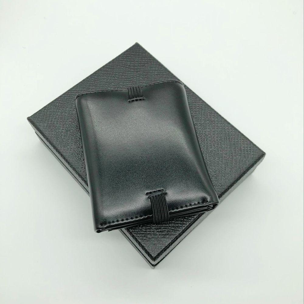 L'homme le plus nouveau MT trois plis porte-monnaie designer de marque en cuir véritable poche titulaire de la carte de crédit grand cadre de billets de banque M B couverture de certificat.