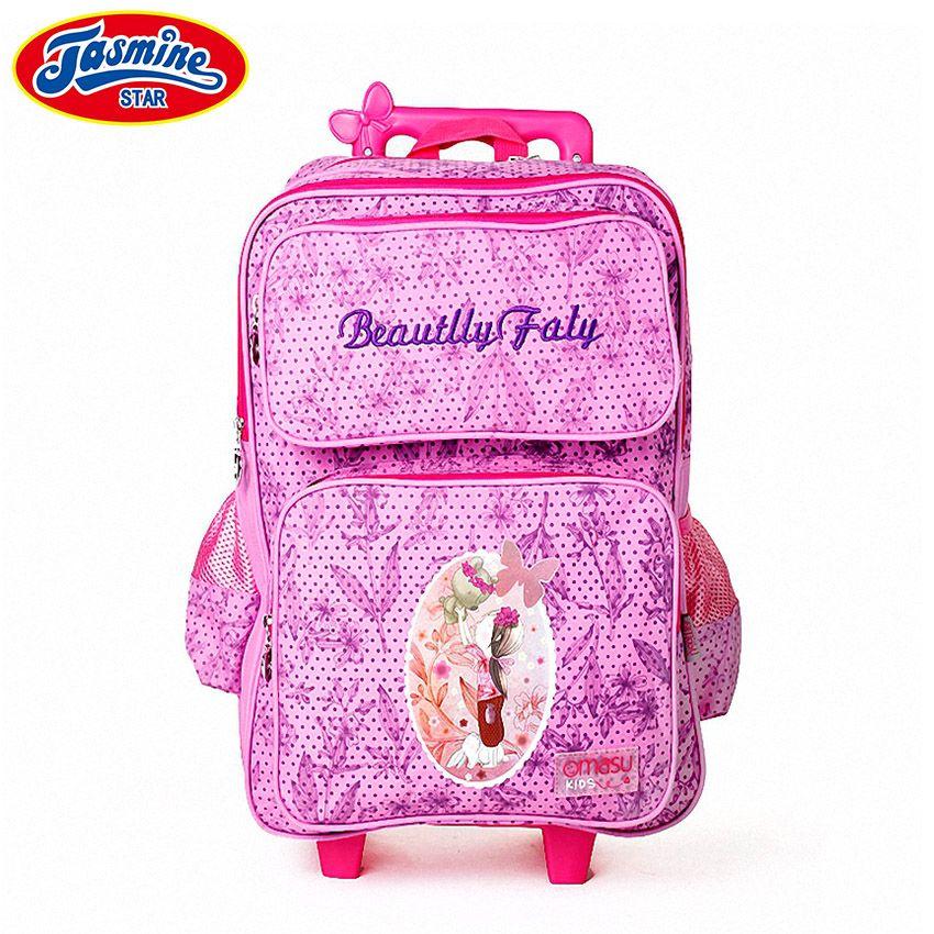 20cdff5429 JASMINESTAR Children Backpack School Wheeled Trolley Backpack Dot Floral  Student Girls Grade 1 3 6 Kids Primary School Bags All Backpacks Camera  Backpacks ...