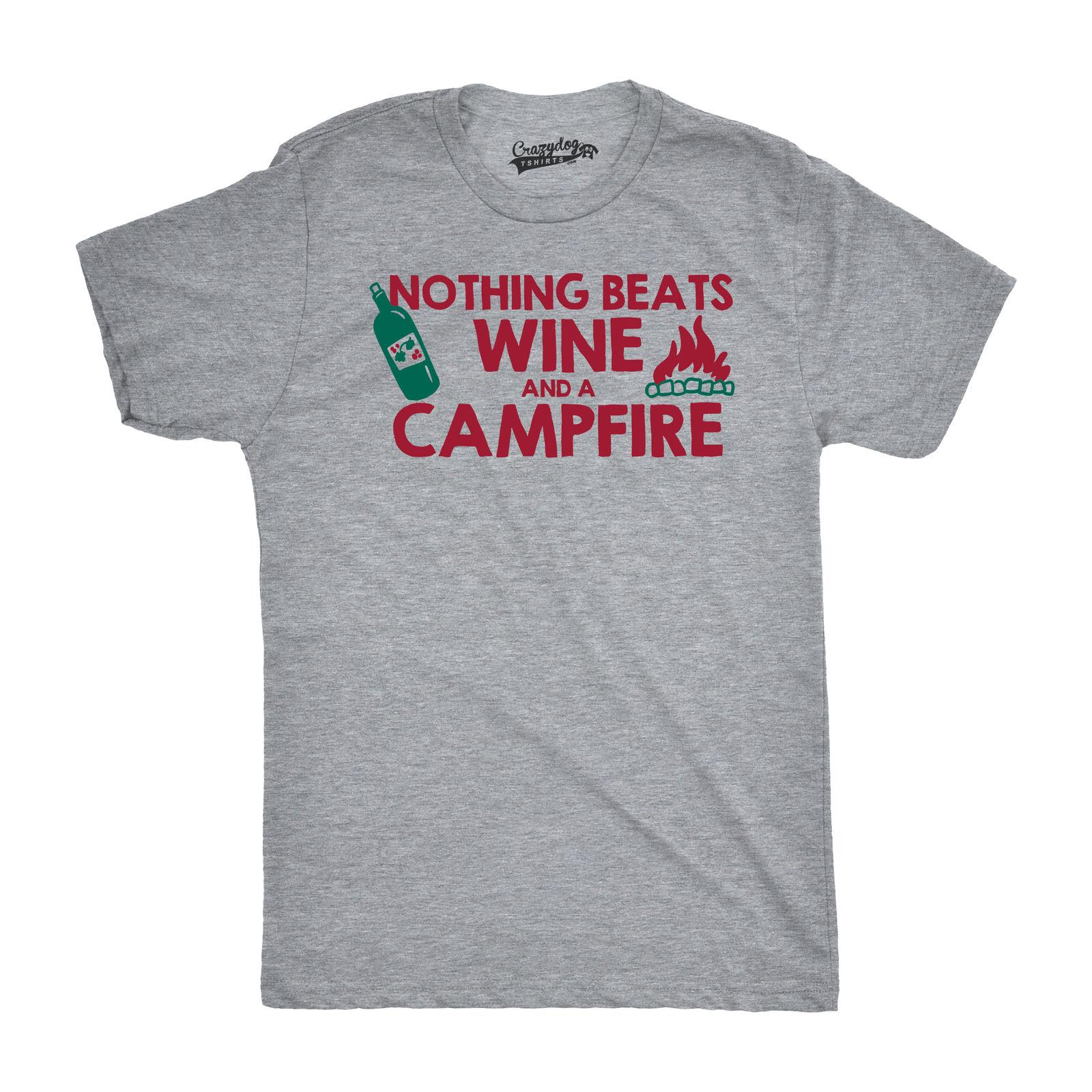 e73fd47df1c3 Mens Wine And a Campfire Tshirt Funny Summer Drinking Wino Tee For Guys  Online with  12.99 Piece on Beidhgate09 s Store