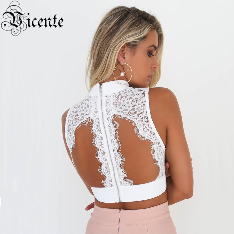 4e24488818bd2 2019 2018 New ! Must Have EleLace Embellished Choker Wholesale Women Party  Bandage Top Crop Top From Bairi