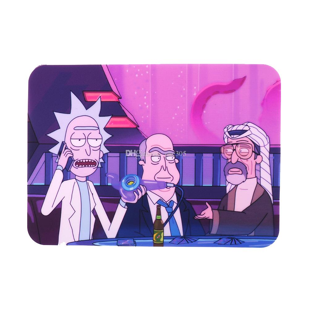 Rick and morty Non-stick Wax Mat Pad Silicone Easy cleaning Mat for wax dry herb vape pen dabber tool Small Rectangle 27.5X20CM silicone she