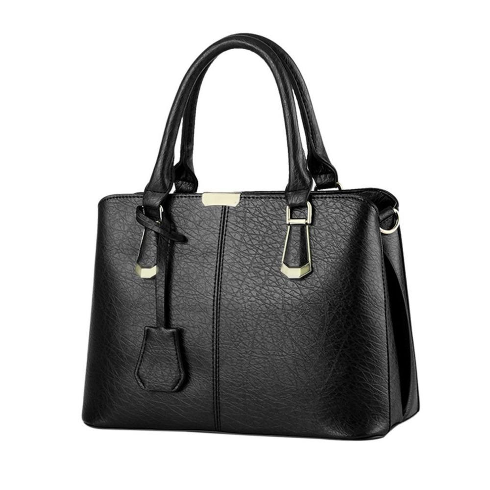 05cd9cdcc43f Women PU Leather Handbags Female Business Shoulder Bags Luxury Women ...