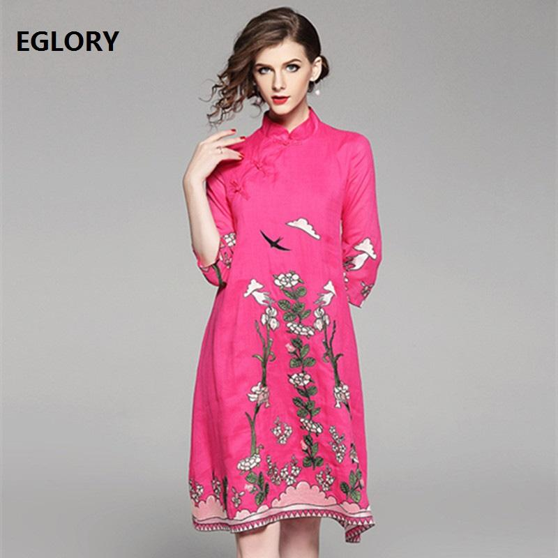2019 New Plus Size Dress Clothing Vestidos Women Lurious Embroidery ...