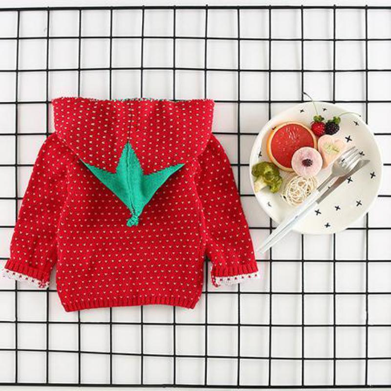 Korean Coat Strawberry Red Hoodie 2017 여성 의류 운동복 스웻 셔츠 Baby Boy Girls 의류 자켓 Children 's Coat