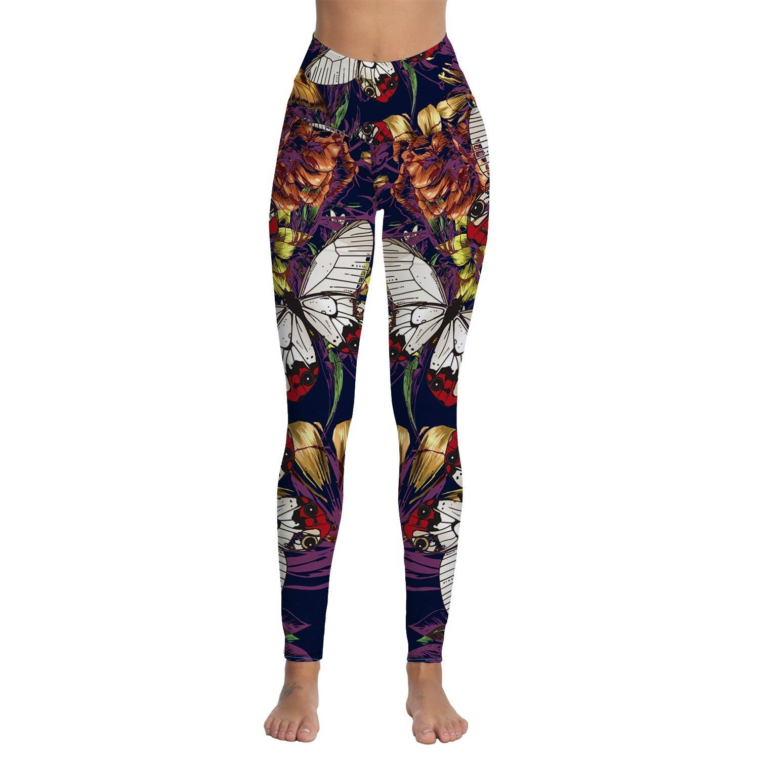 f9ff43485d3b21 2019 Womens Printed High Waisted Yoga Workout Leggings Thin Capris Pants  From Superfeel, $31.69   DHgate.Com