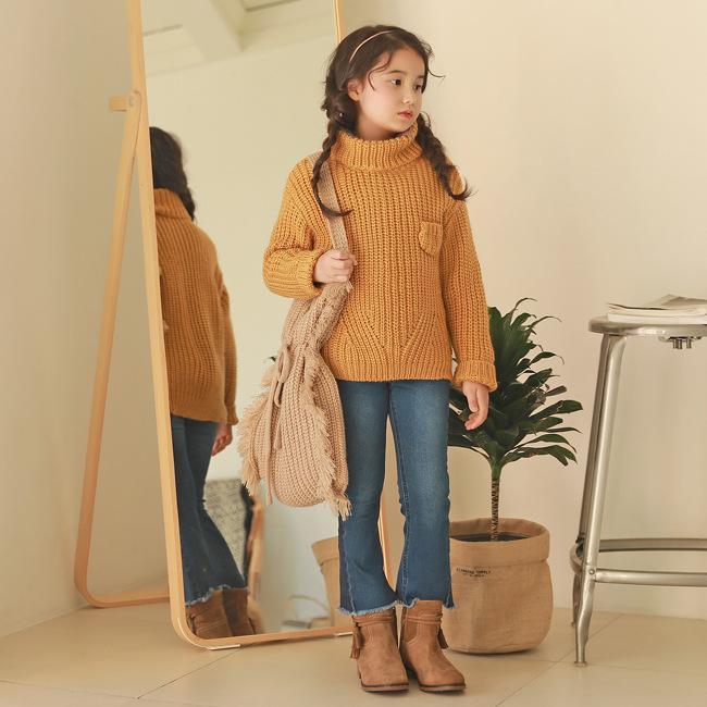 купить оптом мэгги уокер девушки зима водолазка вязать свитер дети
