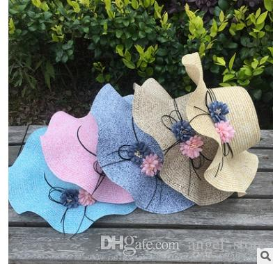 97d4ffb38f2 New Arrival Double Flowers Weave Straw Hat Fashion Wide Brim Summer ...