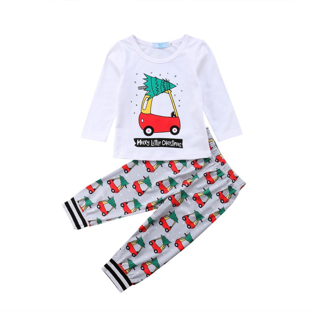 f43748dc9386 2019 Baby Clothes Casual T Shirt Pants Leggings Cotton Cute Outfits Toddler Kids  Baby Boy Girl Clothes Set 1 6T From Paradise13