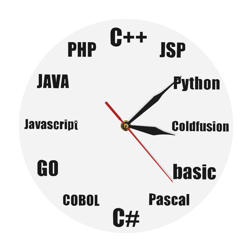 . 1Piece Program Wall Clock Nerd Quartz Clock Modern Wall Contemporary Art  For Programer Office IT