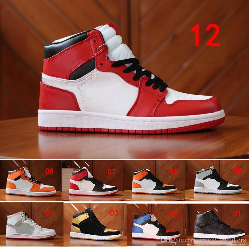 hot sales 08527 2593e Großhandel Nike Air Jordan 1 Sneakers Chicago High OG RED WHITE Herren  Freizeitschuhe Outdoor Qualität 5 US13 Walking Und Joggingschuhe Größe 40  46 Von ...