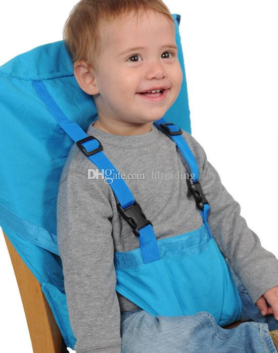 Baby Sack Seats Portable High Chair Shoulder Strap Infant Safety Seat Belt Toddler Feeding Seat Cover Harness Dining Chair cover C3560