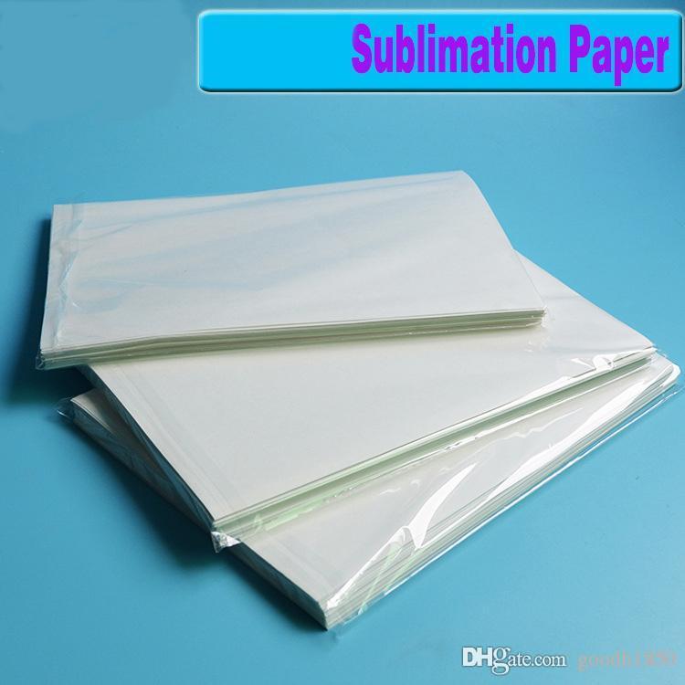 100 fogli formato A4 carta di trasferimento di calore di sublimazione, carta 100gsm, utilizzo di Abbigliamento, T-shirt, tazza, cuscino, ecc