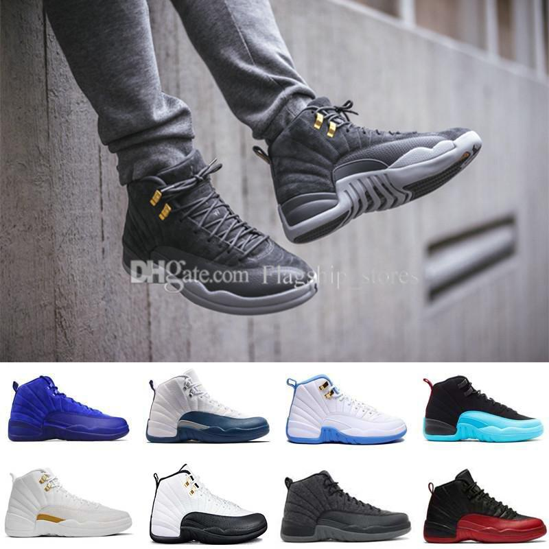 5bbc25362ec 12 Men Basketball Shoes the Master GS Barons Wolf Grey Flu Game Taxi ...