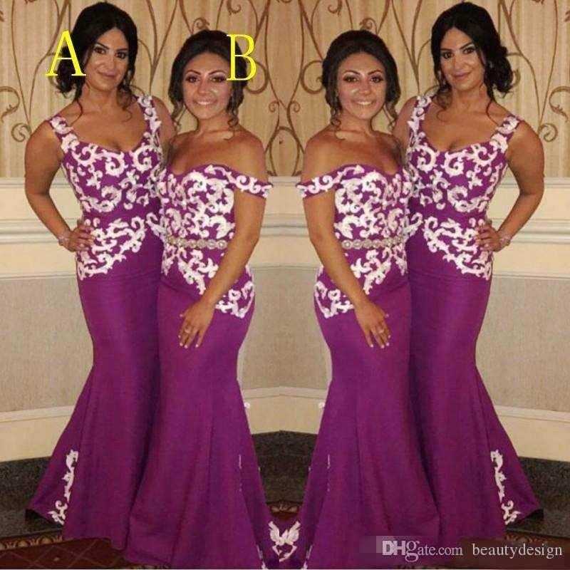 cb7966dd004 South African Mermaid Bridesmaid Dresses For Wedding Sexy Off Shoulder Lace  Appliques Maid Of Honor Gowns Nigeria Long Bridesmaid Dress Modern  Bridesmaid ...