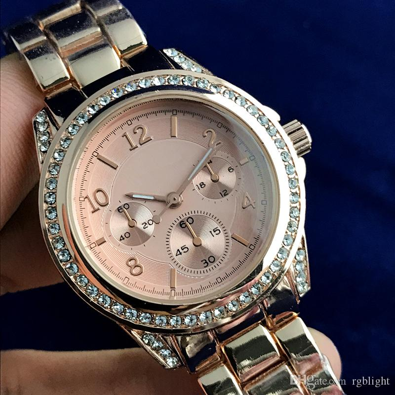 Big Bang Watches Womens Luxury Designer Famous Brand Full Diamond Watch  Ladies Gold Bracelet Wristwatches Quartz Clock Reloj Mujer Affordable  Watches Good ... debaa01a0