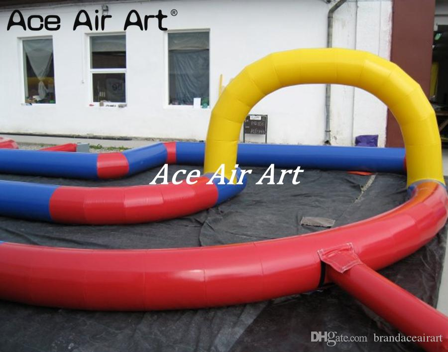 Trilha de ar inflável de alta qualidade para a raça de carro das crianças, pista de corridas inflável for sale