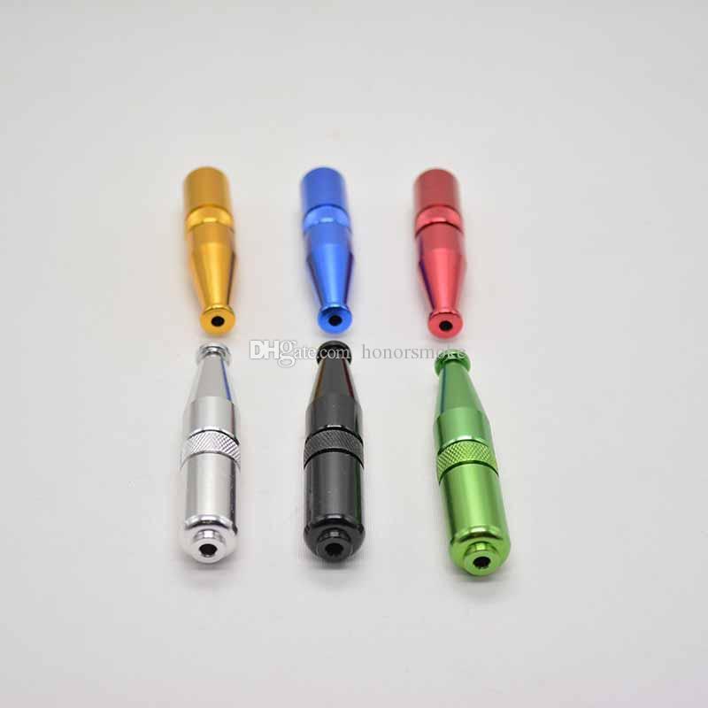 69mm Zepplin forma de torpedo metal fumar pipa de aluminio tabaco cigarrillo Filtro de mano Divertidos tubos es Herramientas Accesorios