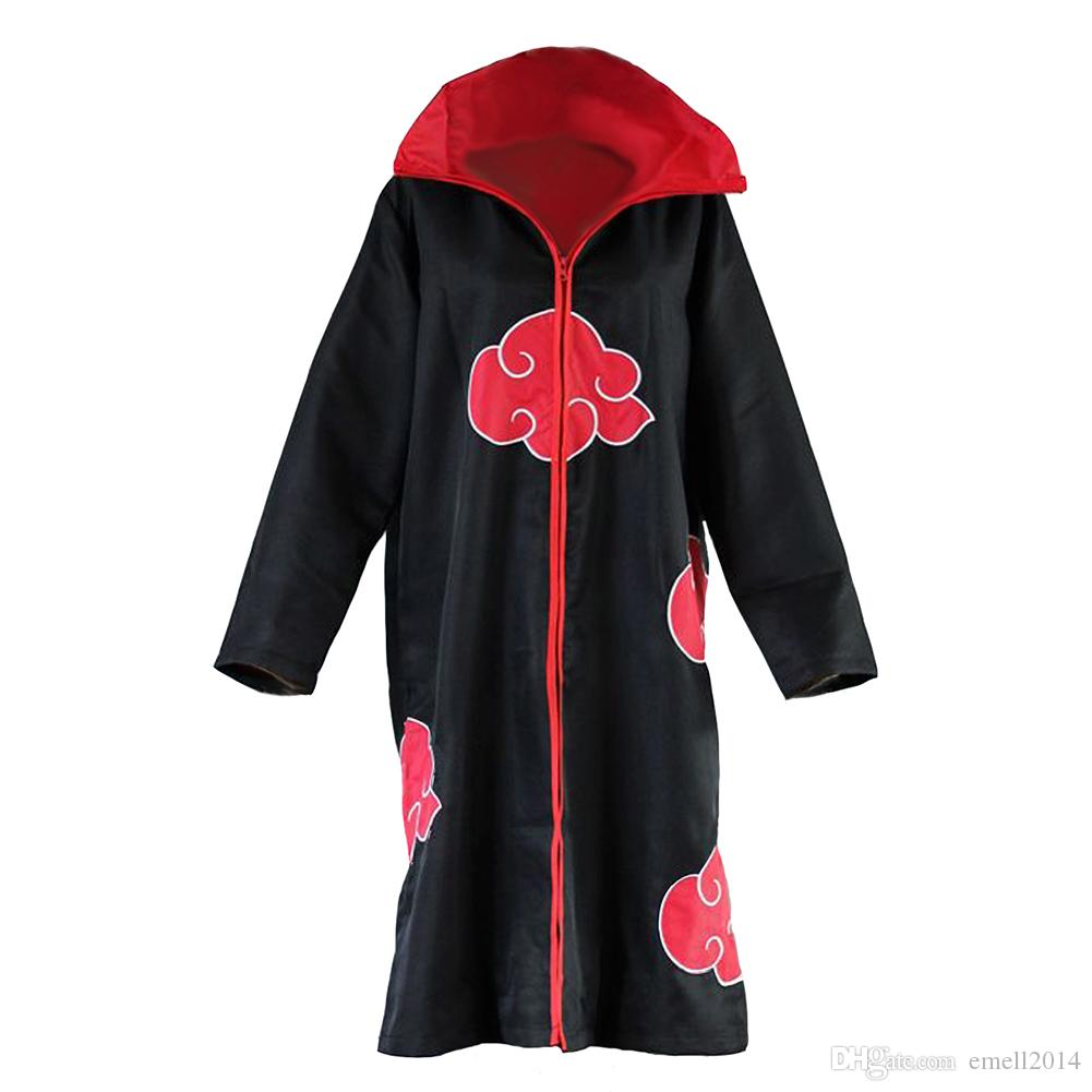 Compre Naruto Akatsuki Uchiha Itachi Hidan Pein Sasori Deidara Konan Red  Cloud Cosplay Cloak Cape A  14.22 Del Emell2014  32c1968f51e