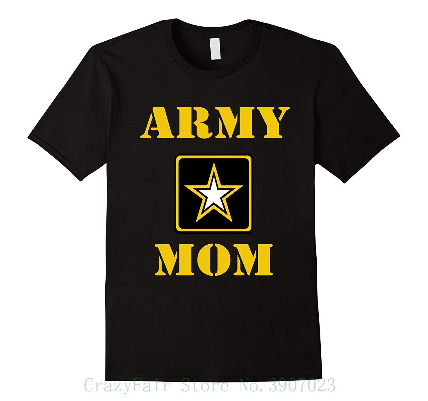 0fb6f8f9e7 U.S. Army Proud Mom Army T Shirt Tshirt Men Black Short Sleeve Cotton Hip  Hop T Shirt Print Tee Shirts Printing On T Shirts Crazy T Shirts From ...
