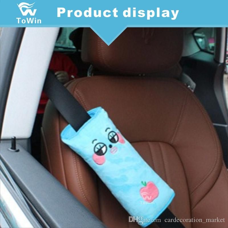 Seatbelt Pillow Soft Auto Seat Belt Covers Vehicle Shoulder Pads Neck Head Support For Car Travel Safety Protector Cushion