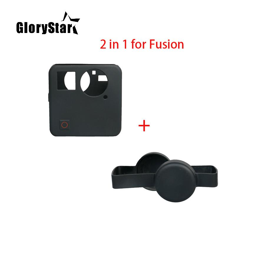 Fusion Lens Cap Body Protection Case Cover Soft Shell For GoPro Fusion 360  degree Go pro Sport Action Camera Accessories Kit
