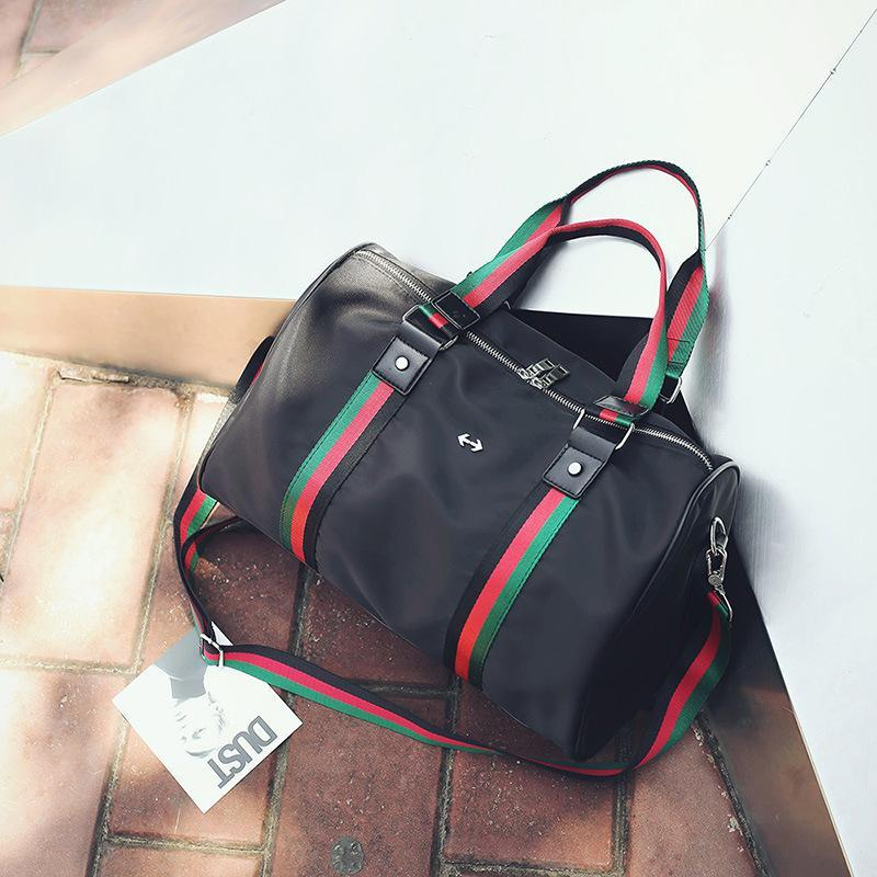 0e2712403c51 Famous Brand designer Bags Travel Bag Fashion Large Capacity Bag Striped  Nylon Duffle Cloth Handbags Shoulder Waterproof Luggage Bags