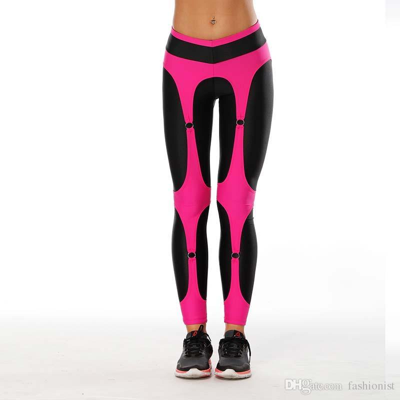2020 donne pantaloni di yoga sport elastico personlity design Fitting Esercizio Collant sport femminile elastico fitness in corso Pantaloni Slim Leggings