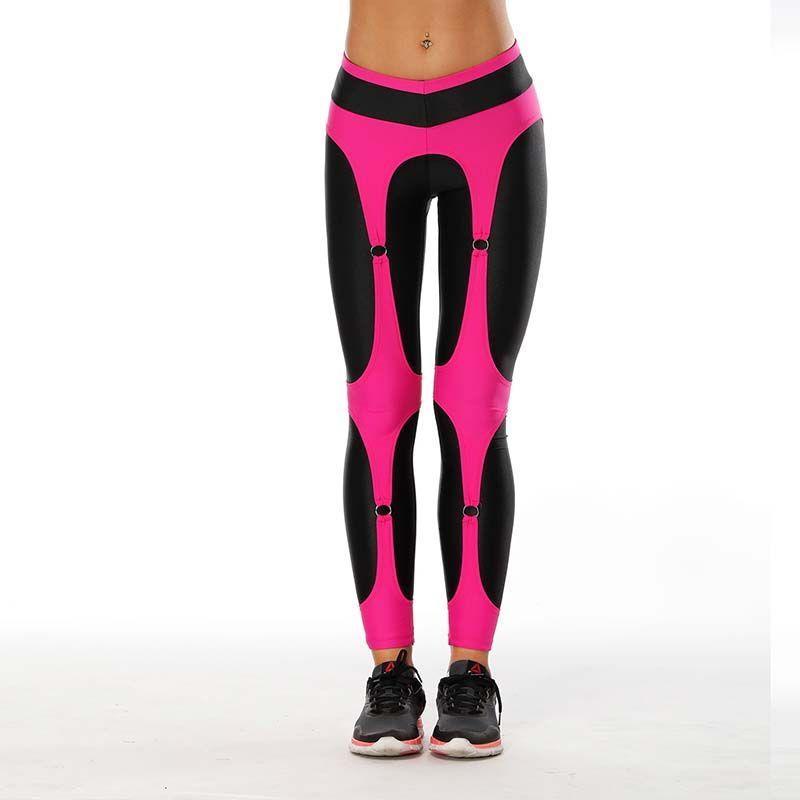 2020 Women Yoga Sports Pants Elastic Personlity Design Fitting Exercise Tights Female Sports Elastic Fitness Running Trousers Slim Leggings