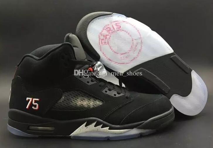 364669c67639b4 Top Quality 5 BCFC PSG Paris Saint Germain Basketball Shoes Men 5s Black  Suede Sports Sneakers With Shoes Box Basketball Shoes For Girls Discount  Shoes ...