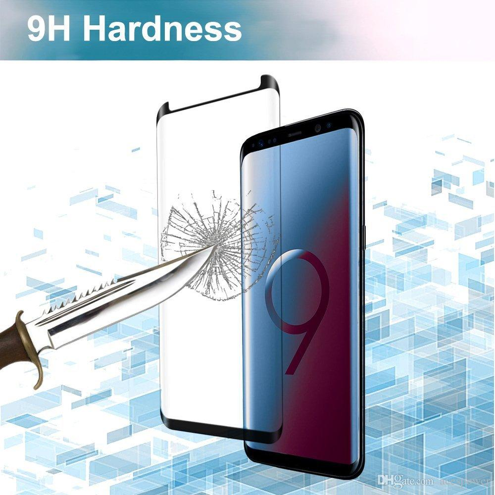 Case Friendly 3D Curved Tempered Glass For Samsung Galaxy S11 Plus S10 S9 Note 9 10 S8 Plus note8 Screen Protector Film