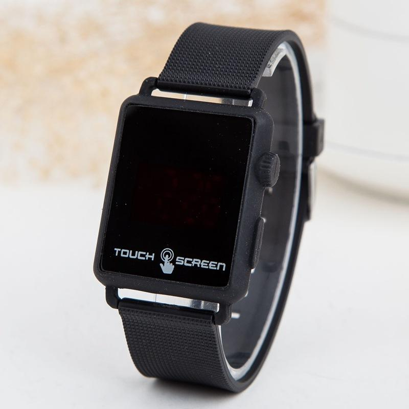 46d6d305b7a Compre 2018 Nova Moda Quadrado Digital Relógio Homens Eletrônico Led Touch  Geléia Relógios De Silicone Esportes Relógios De Pulso Relogio Masculino De  ...
