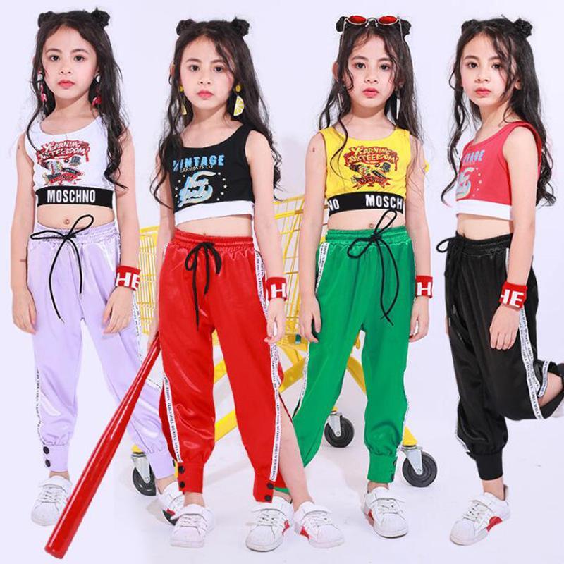 8f479b8b05965 Compre Niños Con Lentejuelas Camisa De Baile Pantalones Trajes De Baile  Competencias Para Niñas Moderno Jazz Hip Hop Ropa De Baile Ropa Ropa  Streetwear A ...