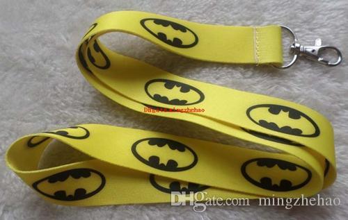 mode Populaire Super-Héros Batman Cordes Courroie de Cou Touches Caméra Carte D'identité Lanière Mobile Téléphone Neck Courroies