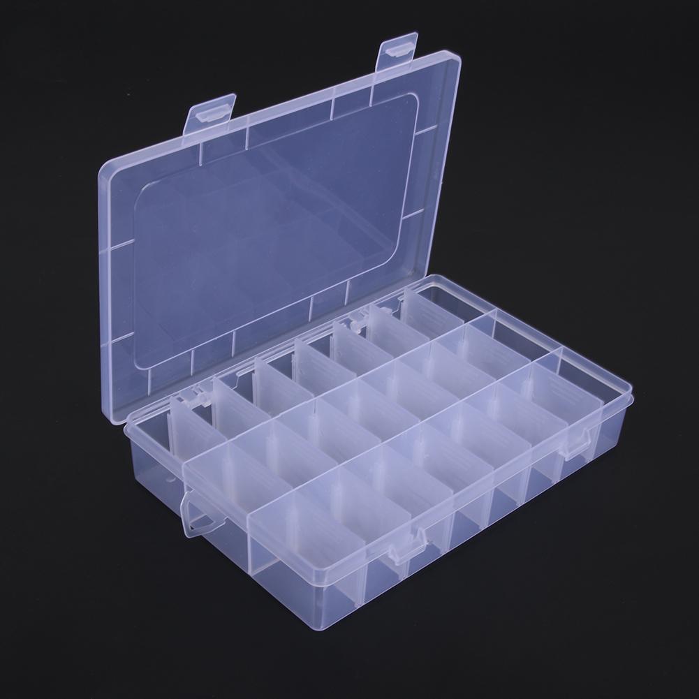 2019 24 Compartments Plastic Storage Box Plastic Transparent Display