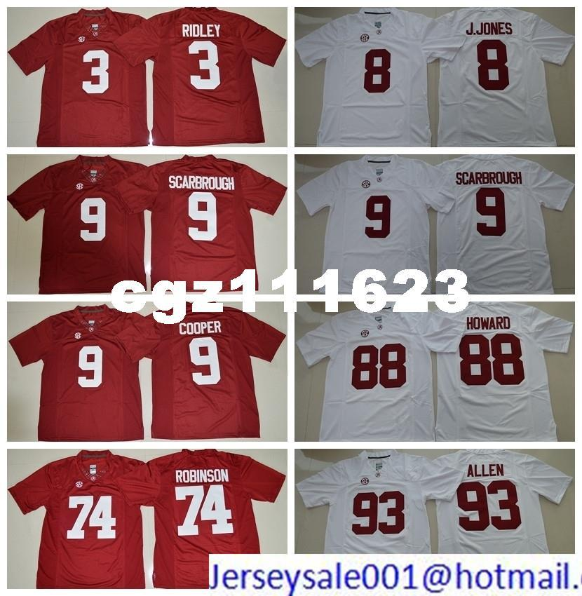 48a92e5ec Alabama Crimson Tide College 8 Julio Jones 9 Amari Cooper 9 Bo Scarbrough  74 Cam Robinson 88 OJ Howard 93 Jonathan Allen Football Jerseys College  Football ...