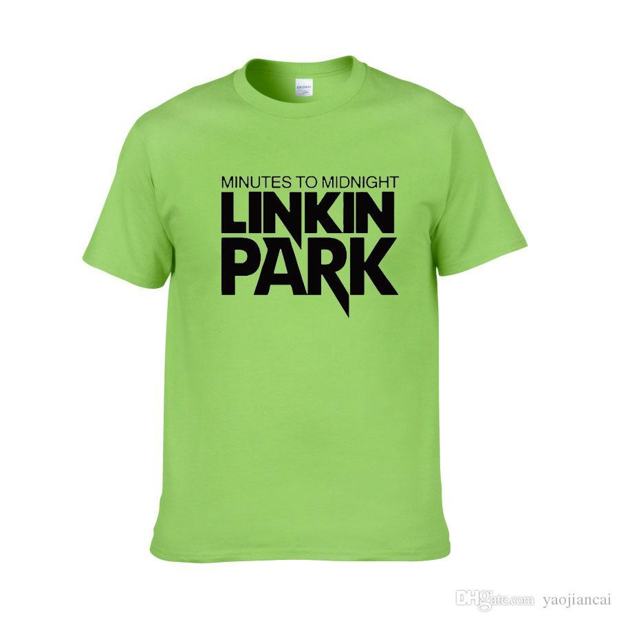 Neue Ankunft 2018 Buchstabe print linkin Park t-shirts Rockmusikmarken-Bandteamart und weiset-shirt Baumwolle Freies Verschiffen