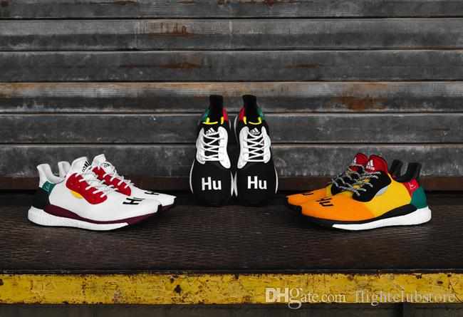 d4edad4be Pharrell Williams X Solar Hu Glide ST Solar Hu Glide ST Black BB8041 Solar  Hu Glide ST White BB8044 Really Explosive True Mark Comfort Shoes Sneakers  Online ...