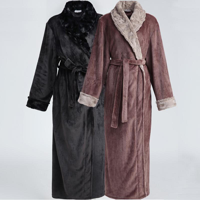 2018 Wholesale Men Hot Fur Plus Size Extra Long Thermal Flannel ...