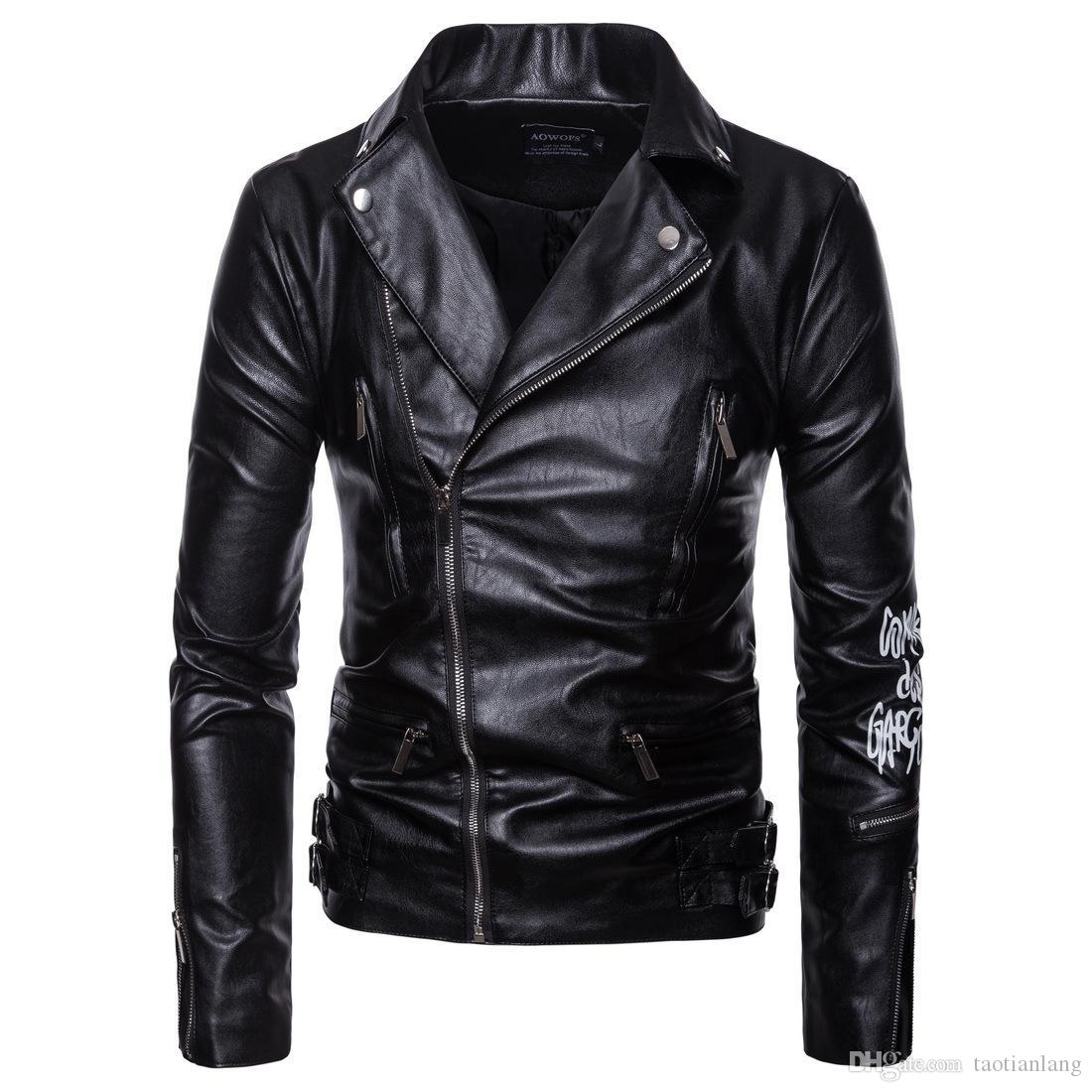 Men's Clothing Jackets Cheap Sale Plus Size 5xl Mens Leather Jacket Slim Fit Pu Biker Motorcycle Warm Bomber Coat Outwear Overcoat High Quality