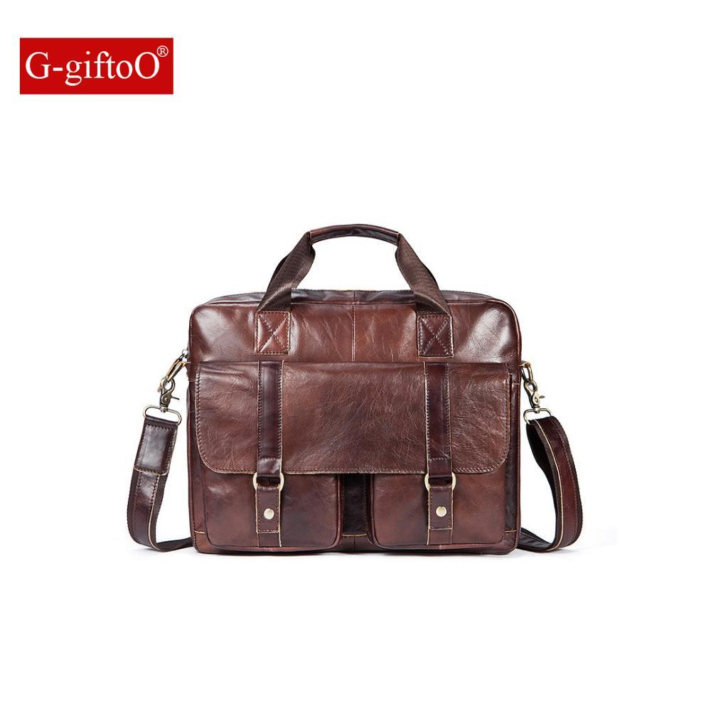 058d4adc18c7 Men Bag Genuine Leather Bag Men Crossbody Bags Messenger Men S Travel  Shoulder Bags Tote Laptop Briefcases Handbags 9005 Leather Laptop Case  Luxury Leather ...