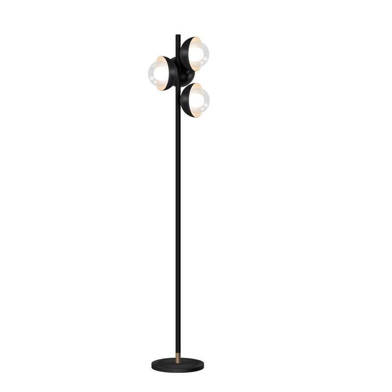 Acheter Post Moderne Design 4 Lampes Lampadaire Noir En Metal Debout