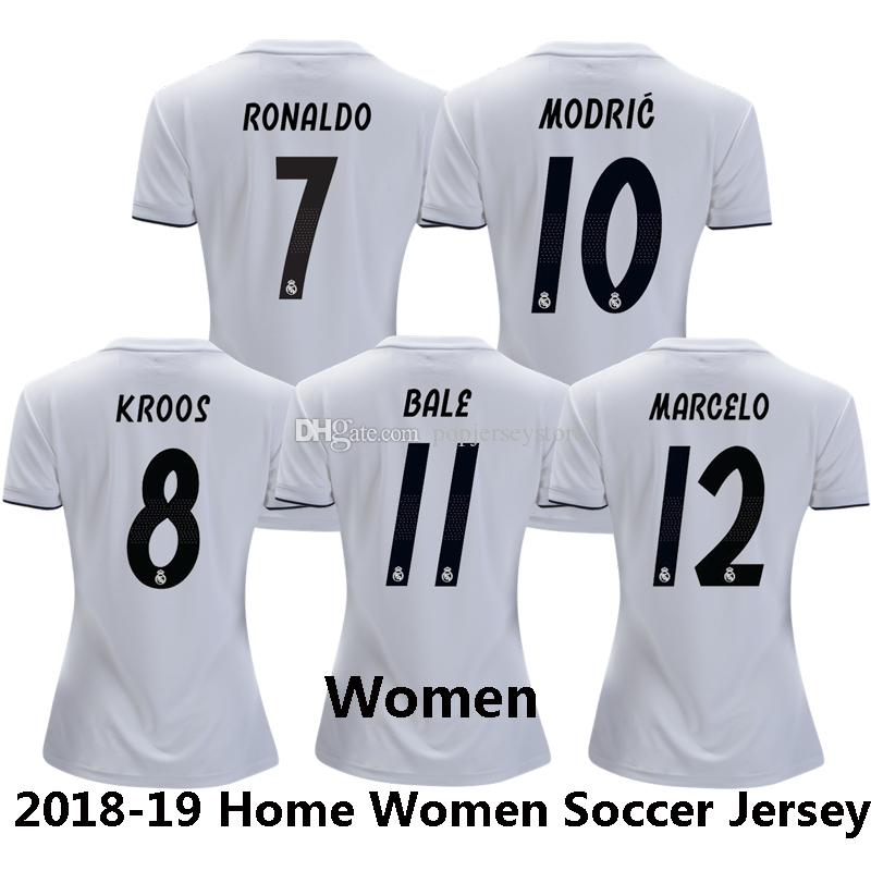 2018-19 RONALDO MODRIC BALE Soccer Jersey Club Team Women MADRID ... 871571206ad05