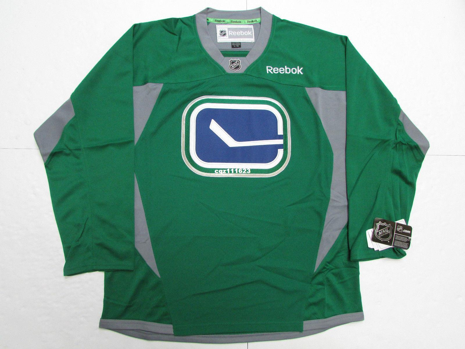 2019 Cheap Custom VANCOUVER CANUCKS GREEN Stitched PRACTICE Mens HOCKEY  JERSEY From Cgz111623 f9c30b3c508