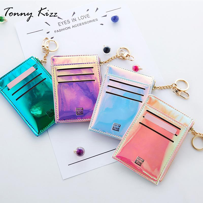 dc1879f4 Tonny Kizz Candy Color Card Holder For Women Small Wallets Ladies Coin Purse  For Girls Fashion Laser Mini Wallets High Quality Wholesale Purses Purses  ...