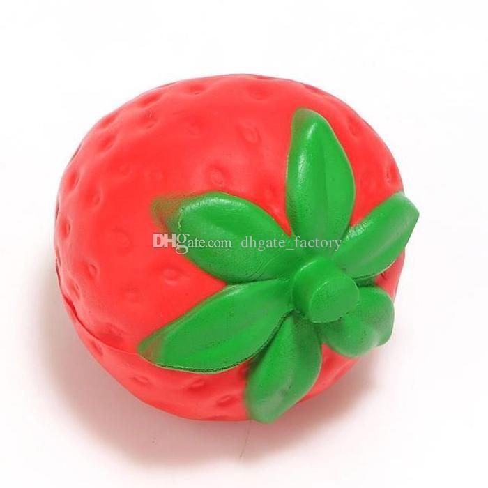 12 cm grande Colosal fresa squishy jumbo simulación Fruta kawaii Artificial lento aumento squishies queeze juguetes bolsa encanto del teléfono Envío rápido