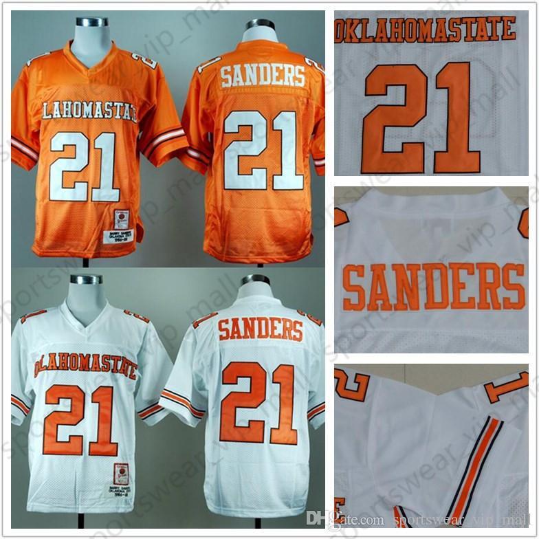 d873f1195 2019 NCAA Oklahoma State Jersey  21 Barry Sanders Orange White Blue  University Retro College Football Jerseys From Sportswear vip mall