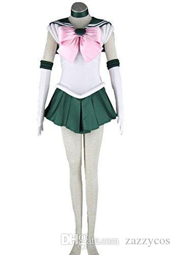 Sailor Moon Makoto Kino Jupiter Cosplay Costume Outfit Uniform Dress