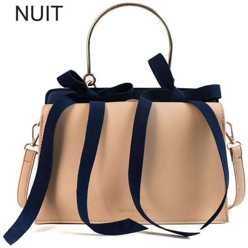 c57e2ce515ed Luxury Handbags Women Bags Bow Designer Pu Leather Handbag Messenger ...