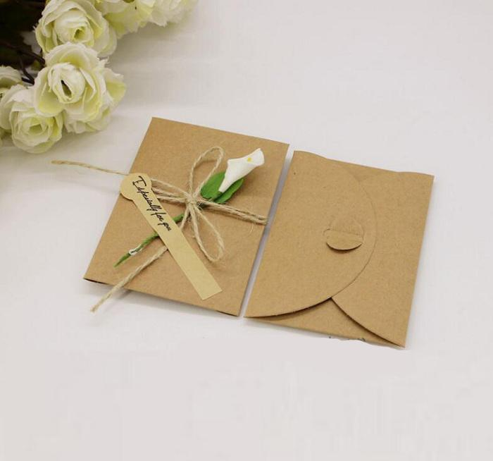 Envelopes With Blank Invitation Card Bag Paper Gift Package For Birthday Wedding Party Favor Decor Supplies DIY Baby Shower Best Greeting Cards Birth